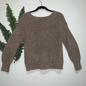 Express Brown Chunky Sweater XS NWOT